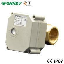Dn15 1/2 '' Válvula de esfera de latão de 2 vias DC5V / 12V / 24V Electric Automatic Drain Valve