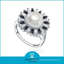 Polierter handgemachter AAA Perlenschmuck Ring (SH-R0476)