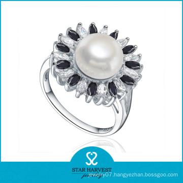 Polished Handmade AAA Pearl Jewelry Ring (SH-R0476)