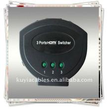INTERRUPTEUR HDMI MINI 3PORT de haute qualité (trois signaux d'entrée HDMI sont commutés sur un seul pupitre HDMI)