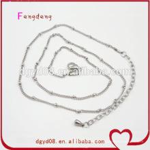 Fabricant de chaîne de bijoux en acier inoxydable