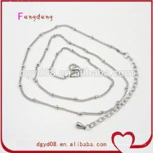 Fabricante de corrente de jóias de aço inoxidável
