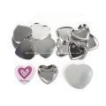 Großhandel hochwertige Herzform Metallknopf Abzeichen