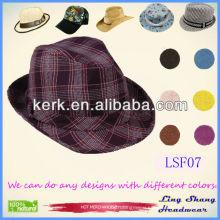 2013 Wholesale Price Cotton Fedora Hat fashion mens hats cowboy hat,LSF07