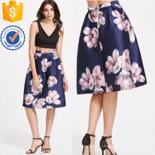 Окно цветок печати Плиссированные юбки Производство Оптовая продажа женской одежды (TA3090S)