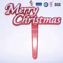 Frohe Weihnachten Plastik Dekorative Picks