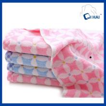 100% Baumwolle Garn gefärbt Blume Jacquard Gesicht Handtuch