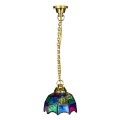 Dollhouse miniature LED tiffany ceiling light