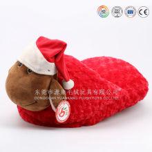 Cusotm christmas plush big slipper sheep from dongguan ICTI factory