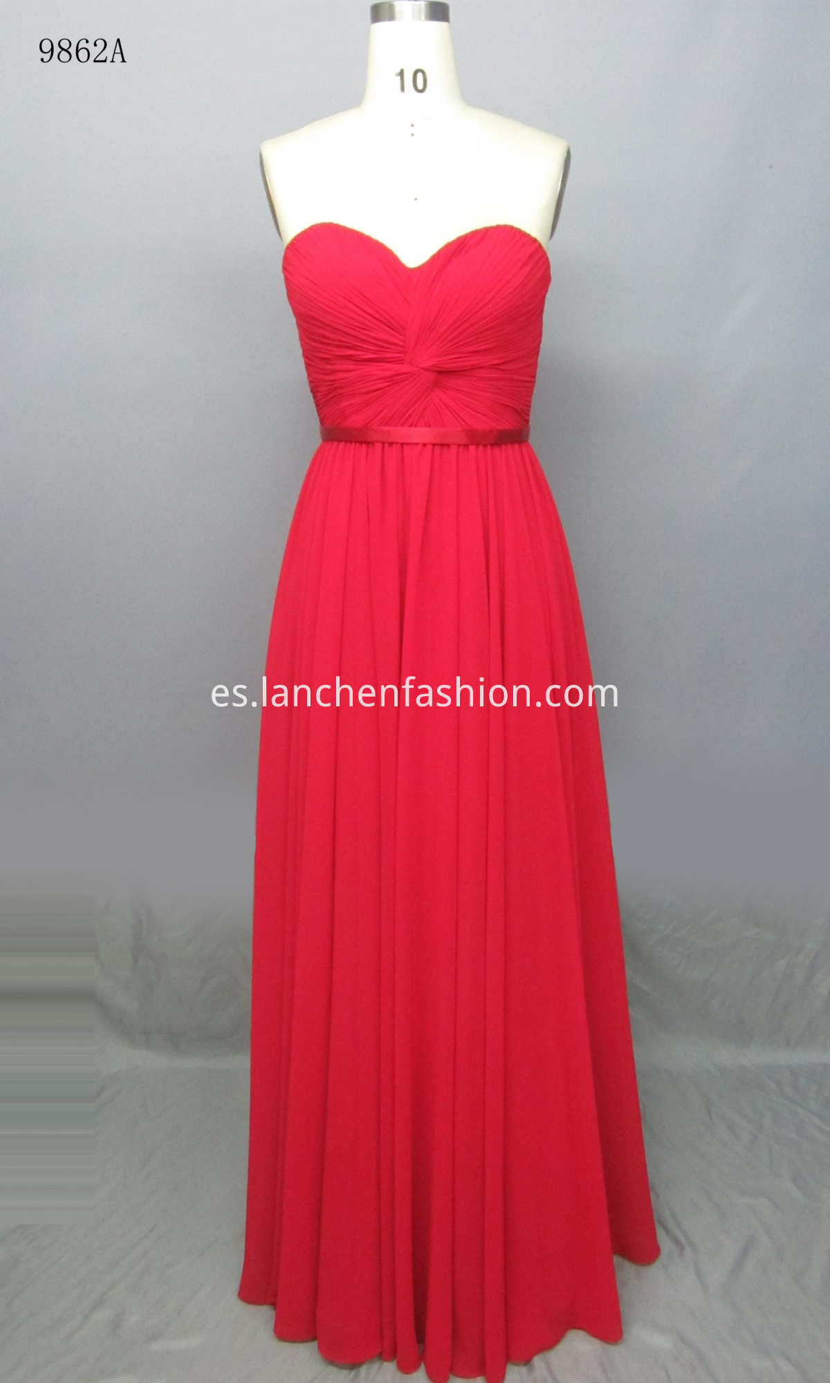 Lace Decoration Dress RED