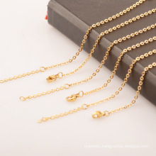 Ladies Fine Chain Gold Plated Stainless Steel Jewelry Cross Chain O-chain Necklace With Pendant 1.5/2/2.5/3.2mm