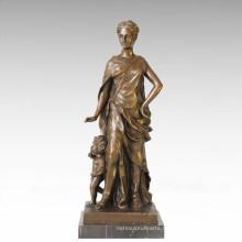Classical Figure Statue Mother-Son Bronze Sculpture TPE-126