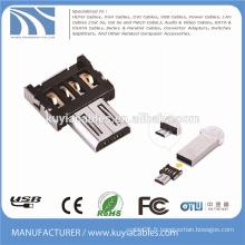 Adaptateur Micro USB OTG Mini-style micro à usb2.0 Convertisseur pour téléphone intelligent Connecter Clavier USB Clavier USB