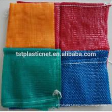 PP leno mesh bags for vegetables package, circular net bags
