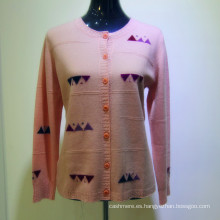 2017 señoras bordado personalizado suéter de cachemira mujer