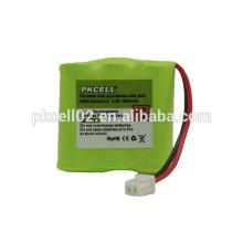 Batería de Ni-Mh Cordlessphone 2/3 AAA * 3 3.6V 300mah Por pkcell