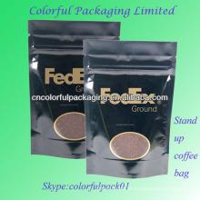 Saco de café em pé com fecho valvulado / embalagem com fecho de correr / embalagem de café
