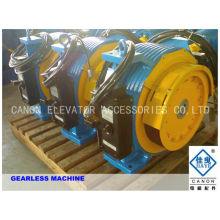 800kg 10 personnes aimant Permanent synchrone Machine de Traction Gearless ascenseur