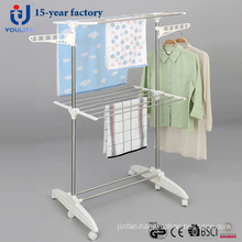 Multi-Purpose Stainless Steel Two Layer Clothes Dring Rack