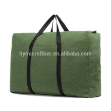 Strong load bearing large thick canvas zipper tote bag