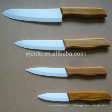 eco-friendly ceramic knife set with bamboo handle