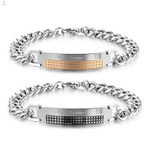 Cheap Silver Relationship Matching Couple Bracelets Design