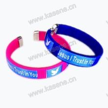 Atacado baratos Custom Cord Bracelet Moda Designs com impressão Logo