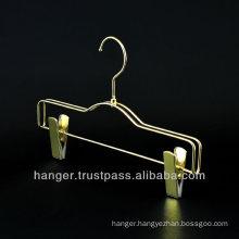 Golden Luxury Metallic Trousers / Pants Hanger for Hotel Equipment