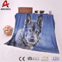 couverture douce de tissu de micromink de peluche de promotion de 100% polyester sherpa