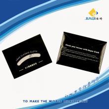 Горячая салфетка для чистки микрофибры с бумажным чехлом