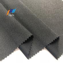 Tejido Abaya negro adhesivo de forros de poliéster de puntos jacquard