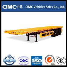 Cimc Tri-Axle 40 'Semi Reboques Flatbed / Reboque Porta Contentores