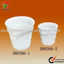 Ensemble de tasse à café expresso en porcelaine sur mesure