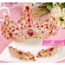 Coronas del rhinestone de la boda de la manera corona al por mayor