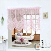 Tecido cego romano voile para cortina de veludo de decoração de casa