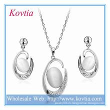 Свадебные изысканные серебряные большие кулон ожерелье и серьги ювелирные наборы для свадьбы