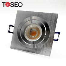 pure aluminium recessed square downlight