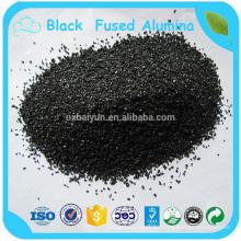 Pulido de alúmina fundida negra de varios metales