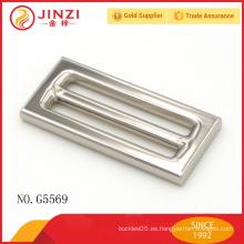 Jinzi marca de alta calidad bolsos hardware cuadrado hebillas