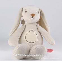 padrão de coelho de pelúcia personalizado orelhas longas pelúcia brinquedo de coelho branco