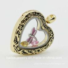 Pendentif en argent sterling personnalisé en forme de bijoux pour décoration
