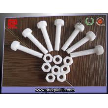 Parafusos plásticos da parte plástica de PTFE