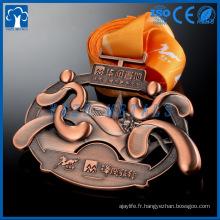3D metal joy running medailles de bronze