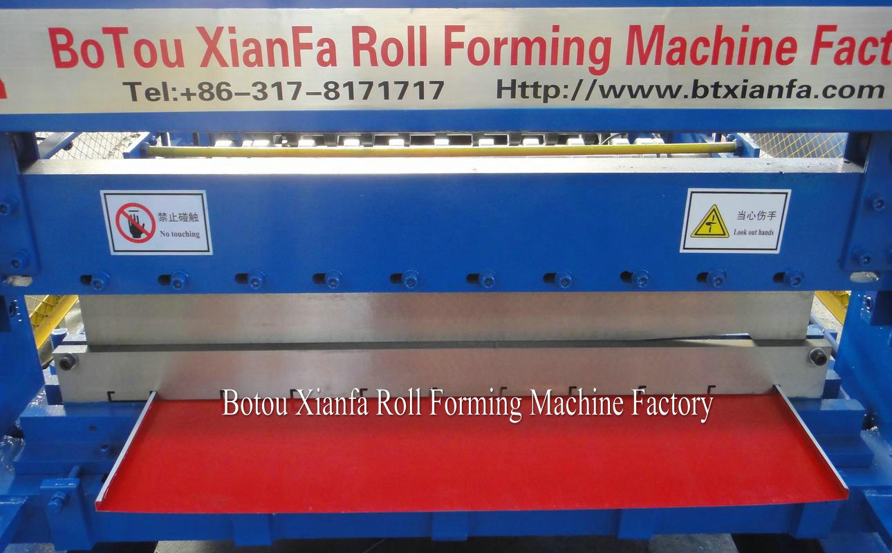 roll forming machine's shearing