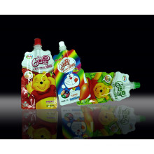 Plastic Stand-up Yogurt Packaging Bag, Stand-up Shaped Milk Spout Pouch