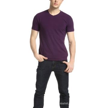 Männer Fitness Promotion V-Ausschnitt Plain T-Shirt