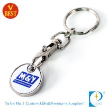 Porte-clés de monnaie de jeton de trolley de logo imprimé par coutume (KD284)
