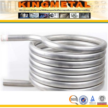 ASTM B338 Gr. 2 Titanium Steel Heat Exchanger Coil Tube