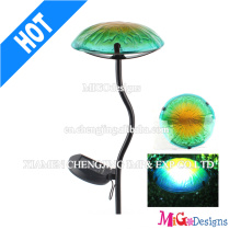 Hand-Printing Solar Powered Light Garden Glass Light