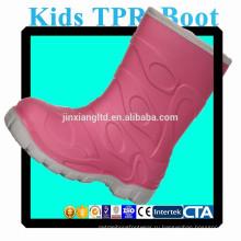 JX-916R цвета TPR детей дождь сапоги водонепроницаемые теплые сапоги